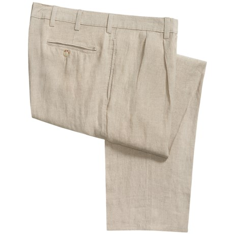Vintage 1946 Linen Pants - Pleated (For Men) in Cream
