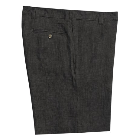 Vintage 1946 Linen Shorts  (For Men) in Black