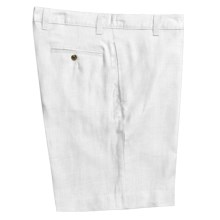 Vintage 1946 Linen Shorts  (For Men) in White - Closeouts