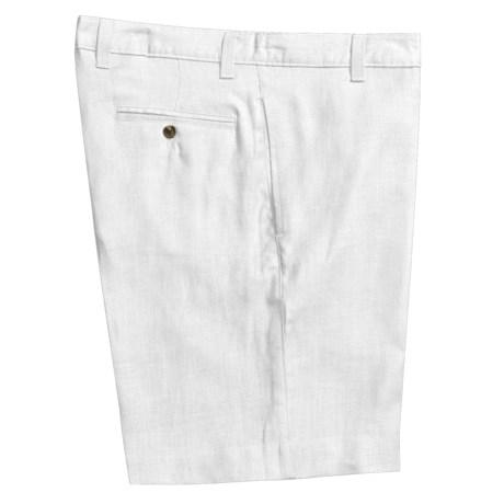 Vintage 1946 Linen Shorts  (For Men) in White
