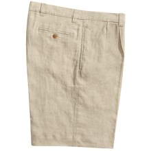 Vintage 1946 Linen Shorts - Pleated (For Men) in Natural - Closeouts