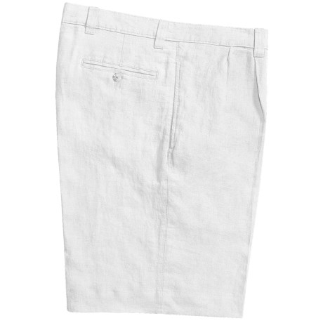 Vintage 1946 Linen Shorts - Pleated (For Men) in White