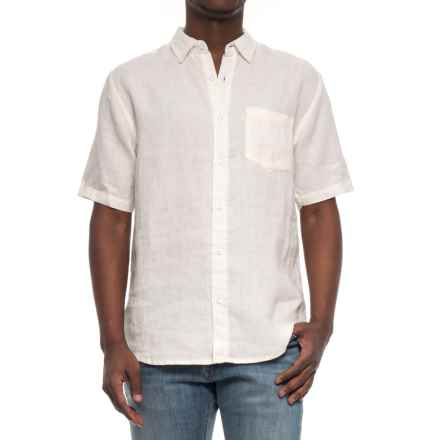 Vintage 1946 Linen Solid Shirt - Short Sleeve (For Men) in Off White - Overstock