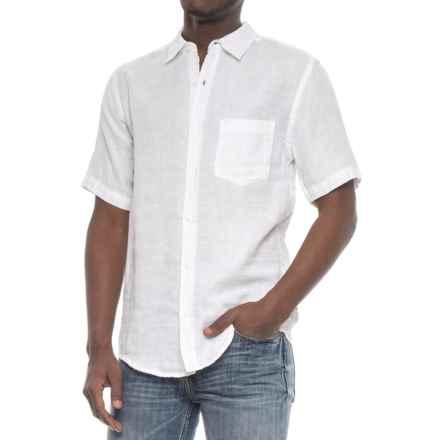 Vintage 1946 Linen Solid Shirt - Short Sleeve (For Men) in White - Overstock