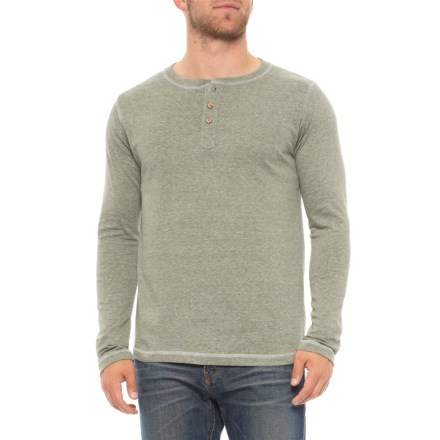 68612bc6d91 Vintage 1946 Microstripe Henley Shirt - Long Sleeve (For Men) in Green -  Overstock