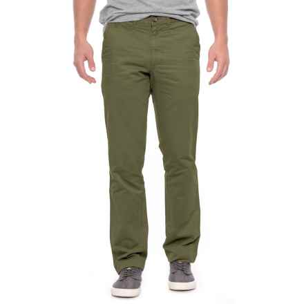 Vintage 1946 Military Twill Cotton Pants - Trim Fit (For Men) in Fatigue - Closeouts