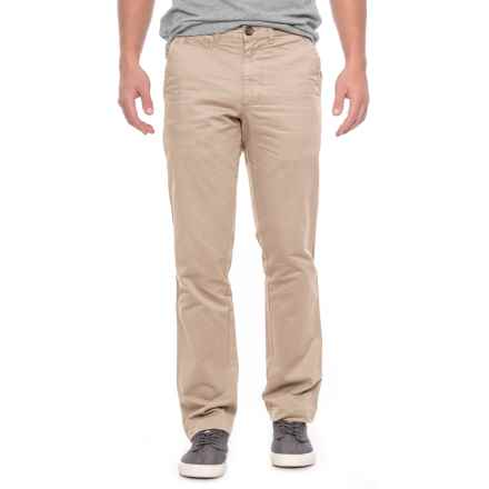 Vintage 1946 Military Twill Cotton Pants - Trim Fit (For Men) in Khaki - Closeouts