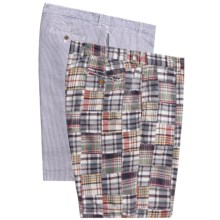 Vintage 1946 Reversible Shorts - Cotton (For Men) in Blue Patch/Blue Stripe - Closeouts