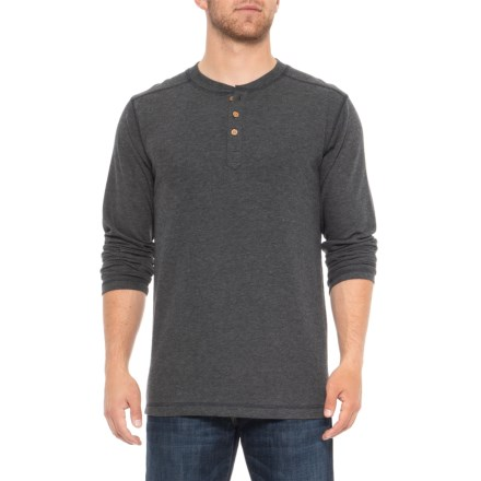 69cf403f760 Vintage 1946 Ribbed Heathered Henley Shirt - Long Sleeve (For Men) in  Charcoal Twist