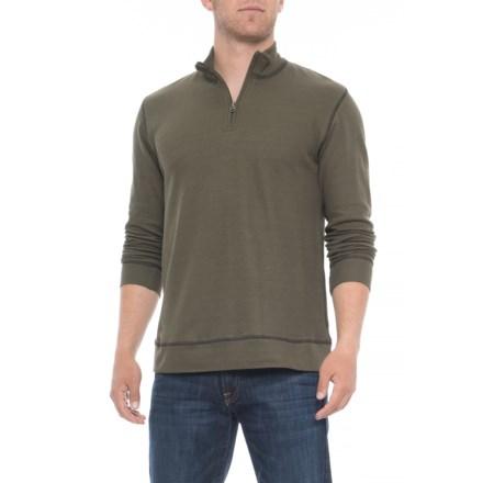 7c6f89b74 Vintage 1946 Ribbed Heathered Shirt - Zip Neck