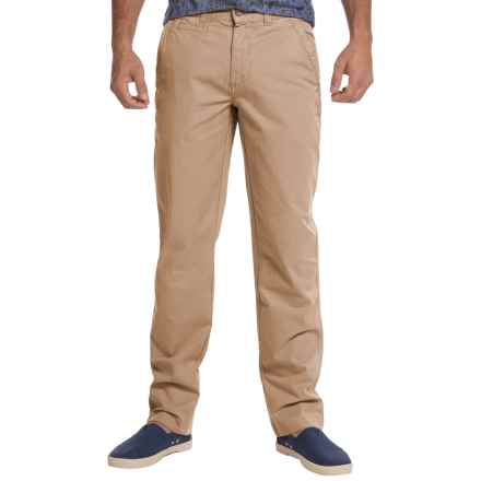 Vintage 1946 Sahara Twill Flat-Front Pants (For Men) in Dusty Khaki - Closeouts