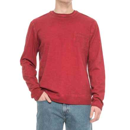 Vintage 1946 Slub Knit Double Crew Shirt - Long Sleeve (For Men) in Red - Overstock
