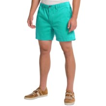 Vintage 1946 Snappers Shorts - Cotton, Elastic Waist (For Men) in Caribbean - Closeouts