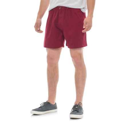 Vintage 1946 Snappers Shorts - Cotton, Elastic Waist (For Men) in Garnet - Closeouts