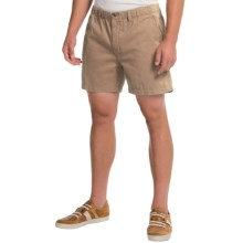 Vintage 1946 Snappers Shorts - Cotton, Elastic Waist (For Men) in Khaki - Closeouts