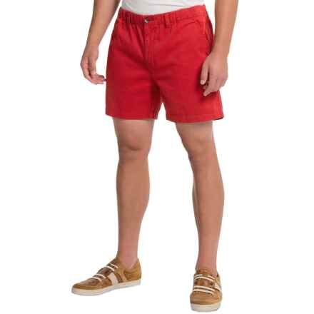 Vintage 1946 Snappers Shorts - Cotton, Elastic Waist (For Men) in Red - Closeouts