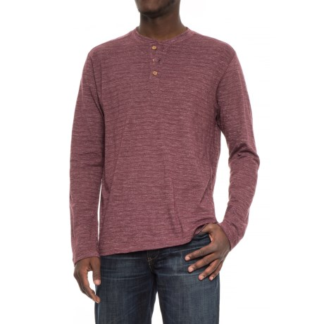 Vintage 1946 Twisted Ottoman Rib Henley Sweater (For Men) in Maroon