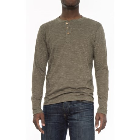 Vintage 1946 Twisted Ottoman Rib Henley Sweater (For Men) in Taupe