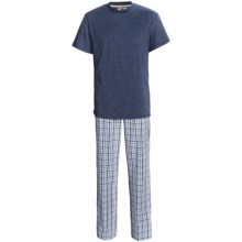 Vintage by Majestic T-Shirt and Broadcloth Pants Set - 2-Piece, Short Sleeve (For Men) in Navy - Closeouts