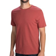 Vintage Cotton T-Shirt - Short Sleeve (For Men) in Brick Red - 2nds