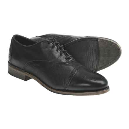 Vintage Ellen Brogue Oxford Shoes - Leather (For Women) in Black Harness - Closeouts