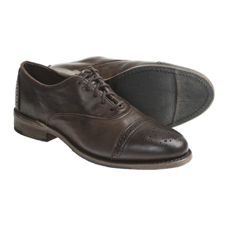 Vintage Ellen Brogue Oxford Shoes - Leather (For Women) in Chocolate Harness