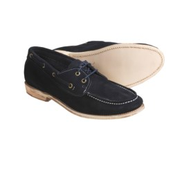 Vintage Hampton Shoes - Leather (For Men) in Navy/White