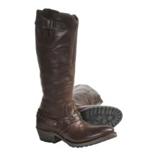 Vintage Holly Tall Harness Boots - Leather (For Women) in Chocolate - Closeouts