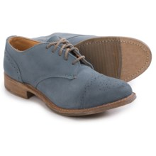 Vintage Josie Brogue Shoes - Lace-Ups (For Women) in Breeza Suede - Closeouts