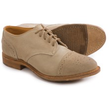 Vintage Josie Brogue Shoes - Lace-Ups (For Women) in Bronze Suede - Closeouts
