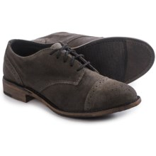 Vintage Josie Brogue Shoes - Lace-Ups (For Women) in Grey Suede - Closeouts