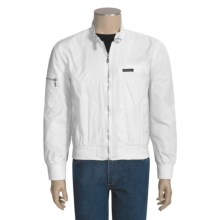 Vintage Racing Style Jacket - Nylon (For Men) in White - Closeouts