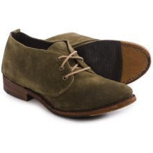 Vintage Shoe Company Ansley Shoes - Lace-Ups (For Women) in Green Suede - Closeouts