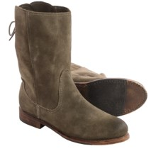 Vintage Shoe Company Erin Leather Boots (For Women) in Sage Suede - Closeouts