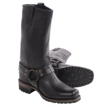 Vintage Shoe Company Gretchen Harness Boots - Leather (For Women) in Black - Closeouts