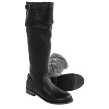 Vintage Shoe Company Ivy Engineer Boots - Leather (For Women) in Black - Closeouts