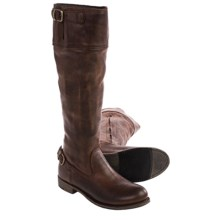 Vintage Shoe Company Ivy Engineer Boots - Leather (For Women) in Chocolate - Closeouts
