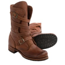 Vintage Shoe Company Jennifer Tanker Boots - Leather (For Women) in Havana - Closeouts