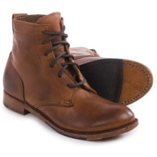 Vintage Shoe Company Lilly Boots - Leather, Lace-Ups (For Women) in Havana Harness - Closeouts