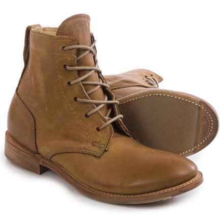 Vintage Shoe Company Lilly Boots - Leather, Lace-Ups (For Women) in Tobacco Harness - Closeouts