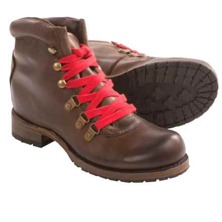 Vintage Shoe Company Minden Boots - Leather (For Women) in Chocolate Harness - Closeouts