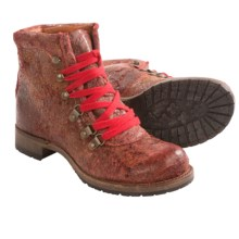 Vintage Shoe Company Minden Boots - Leather (For Women) in Red Vintage - Closeouts