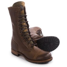 Vintage Shoe Company Molly Boots - Leather, Lace-Ups (For Women) in Chocolate/Camo Harness - Closeouts