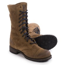 Vintage Shoe Company Molly Boots - Leather, Lace-Ups (For Women) in Cork Suede - Closeouts