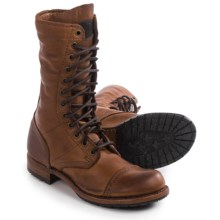 Vintage Shoe Company Molly Boots - Leather, Lace-Ups (For Women) in Havana Harness - Closeouts