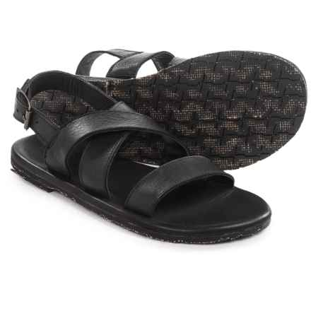 Vintage Shoe Company Sterling Sandals - Leather (For Men) in Black Harness Full Grain - Closeouts