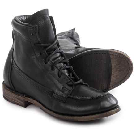 Vintage Shoe Company Vanessa Moc-Toe Boots - Leather, Lace-Ups (For Women) in Black Harness - Closeouts