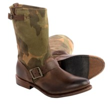 Vintage Shoe Company Veronica Leather Boots (For Women) in Chocolate Harness/Camo - Closeouts