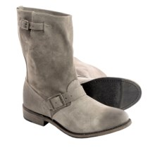 Vintage Shoe Company Veronica Leather Boots (For Women) in Nutria Suede - Closeouts