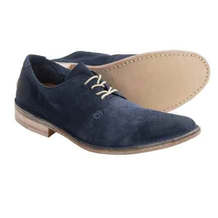 Vintage Shoe Company Ziba Leather Oxford Shoes (For Men) in Blue Suede - Closeouts